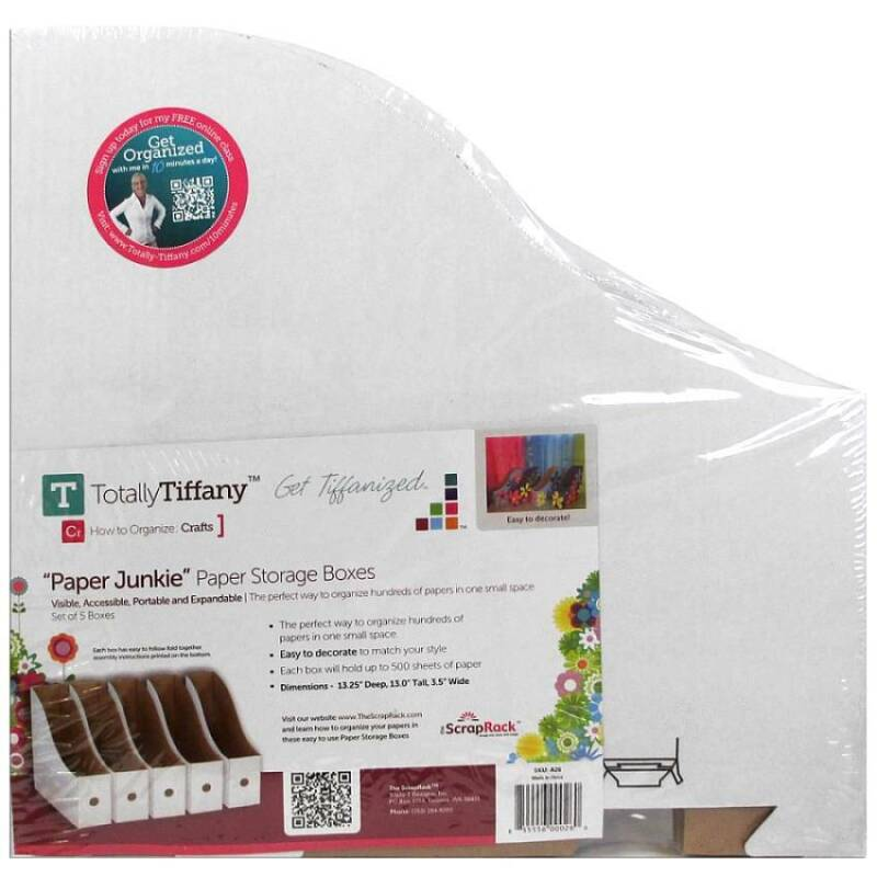 Totally Tiffany Paper Junkie Paper Storage Boxes - A26 - 5 boxes per pack