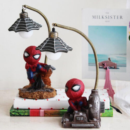 Spiderman Night Light Desk Table Lamp Marvel Avengers Decor Figure Gift Toy Kid