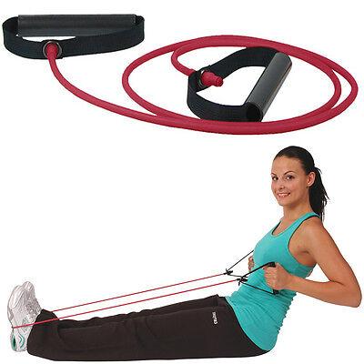 Msd Schläuche Rot (Medium) + 2 Griffe Rohr Elastisch Rehabilitation Gymnastik