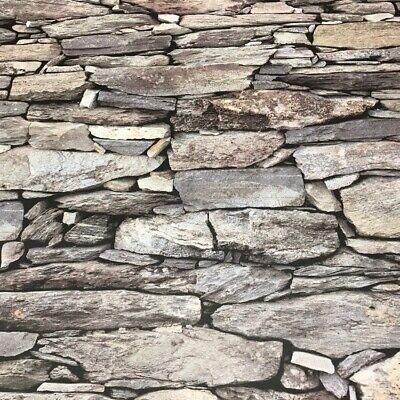 Beige Stone Wallpaper Realistic 3D Effect Natural Wall Design