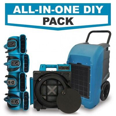 Hepa Air Scrubber Air Movers And Industrial Commercial Dehumidifier Diy Pack