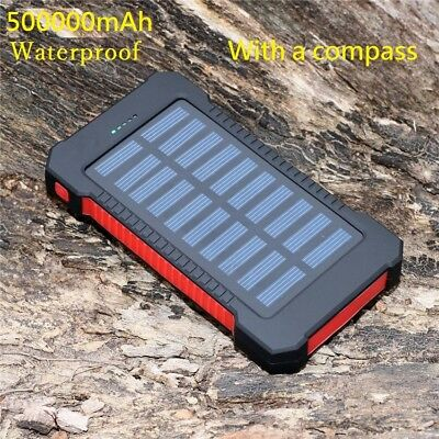 500000mAh Dual USB Little Solar Battery Charger Solar Power Bank For Phone KR