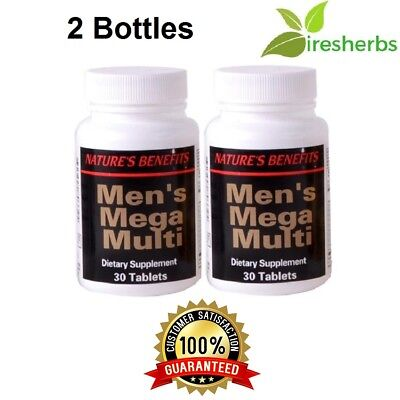 1 Best Mens Mega Multivitamin Active Male Pills Dietary Supplement 60 Tab Lot