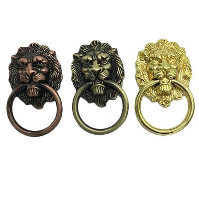 Antique Bronze Lion Head Drawer Knob Pull Dresser Pulls Drop Rings Knocker Antique Bronze Drop Pull