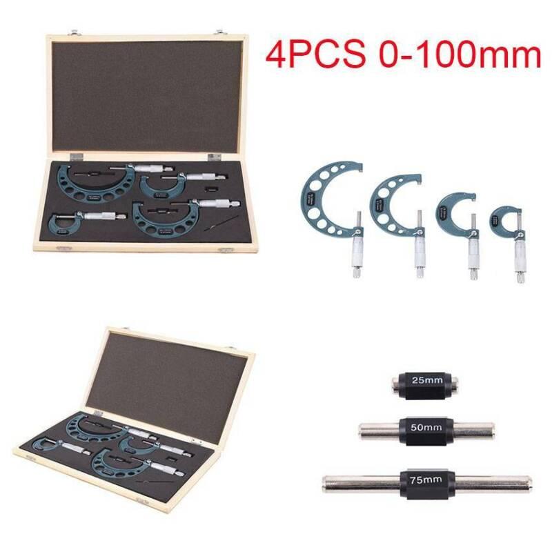 0-4'' 0-100mm Premium Outside Micrometer Set Machinist Preci