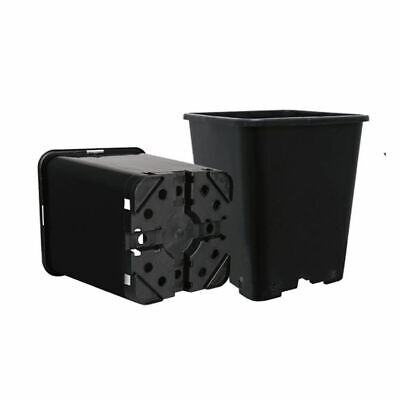 11 Litre Plastic Square Black Plant Pot Outdoor Gardening x10 PCS for sale  Shipping to Ireland