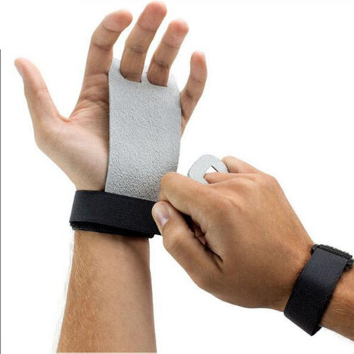 Gym Hand Grips Leather Palm Protector Guards Weight Lifting