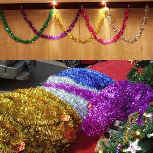 2PCS Shiny Tinsel Garland Christmas Tree Decoration 2 Meter Craft Decor Ornament
