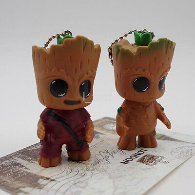 """Hot Sales Guardians of the Galaxy Vol.2 Baby Groot 3"""" Key Ring Figure Doll CA"""