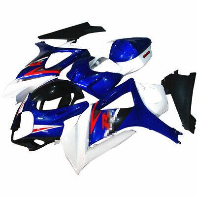 ABS Plastic Fairing Bodywork Panel Kit Set Fits Suzuki GSXR1000 k7 2007-2008