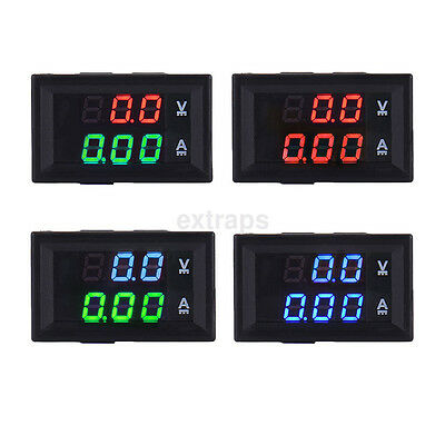Dc 100v 10a Led Digital Dual Display Volt Amp Meter Voltage Voltmeter Ammeter Us