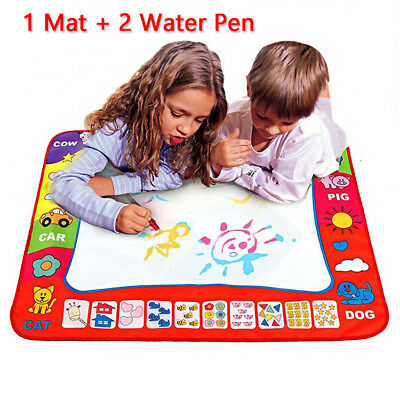 Water Painting Drawing Writing Board Mat Magic Pen Doodle Toy For Baby Kids (Doodle Board)