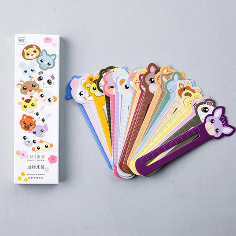 30Pcs/Lot Cute Paper Bookmark Kawaii Animal Book Marks For Kids School Supplies