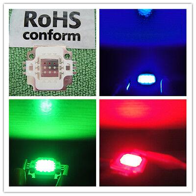 1pcs 10w Rgb Redgreenblue Led 10 Watt Lamp Bright Light Hi Power 9v-12v Dc Diy