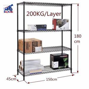1.5m 4-shelf Modular Heavy Duty Metal Wire Rack Garage Storage Geelong Geelong City Preview