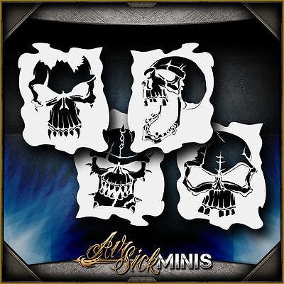 Mini Skull Set 1 Airbrush Stencil Template Airsick