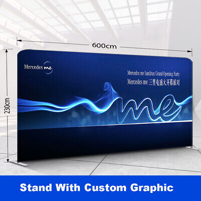 20ft Custom Tension Fabric Trade Show Display Booth Pop Up Stand Backdrop Wall