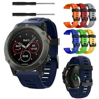 Quick Install Watch Strap Silicone Wristband Belt W/ tools For Garmin Fenix 3 5X ()