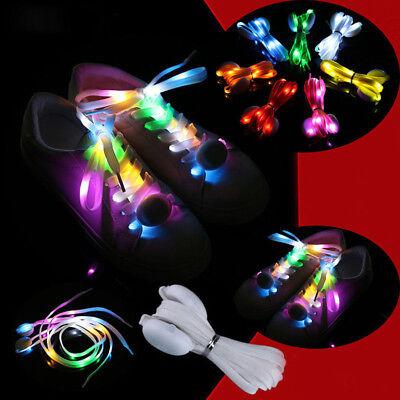 Washable Light Up Flashing LED Shoelaces Lace Adult Luminous Nylon Shoelace New