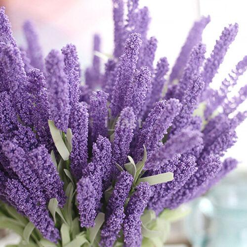 High Simulation 12 Heads Lavender Bouquet Home Decor Wedding Silk Flower CA