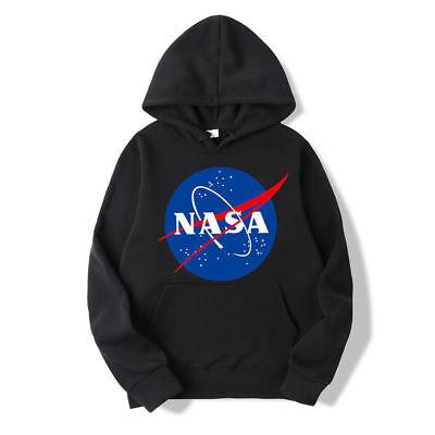 Winter Pullover Sweatshirt (NASA Kapuzenpullover Herren Winter Warm Kapuzenpulli Jacke Outwear Sweatshirt_DE)
