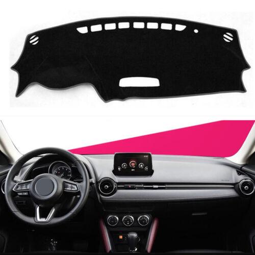 Black Car Dashmat Dashboard Sun Cover Dash Mat Carpet Pad For Mazda CX-3 2016-18