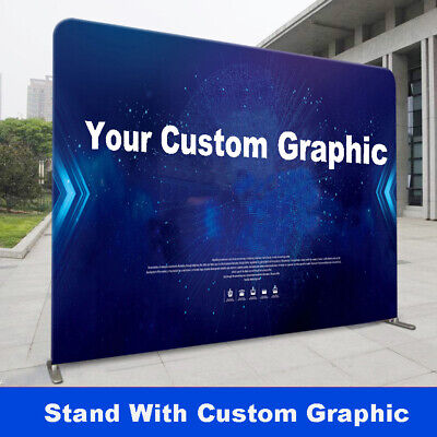 10ft Straight Trade Show Display Back Wall Pop Up Stand With Custom Print Booth