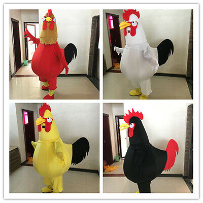 Rooster Mascot Costume Suit Dress Outfit Cosplay NEW Parade Your Best Choices A+