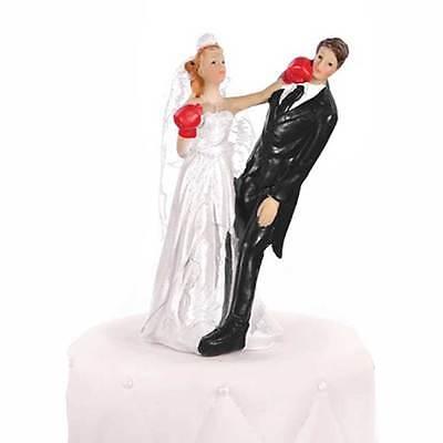 """Lustige Torten Figur """"boxende Braut"""" 14cm gefährlich sportliche Hochzeit Fun neu"""