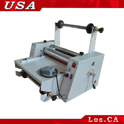 All Metal Hotcold Steel Roller Thermal Laminator 15in Adjustable Temperature