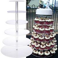 6 Tier Acrilico Torta Rotonda Cavalletto Per Compleanno Festa Di Matrimonio -  - ebay.it