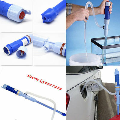 Car Diesel Fuel Water Gas Siphon Pump Hose Electric Battery Syphon Oil Hand Pump