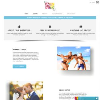 Online Startup business for sale! CreateACustomCanvas.com