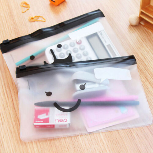 Cute PVC Student Pen Bag Pencil Case Travel Cosmetic Makeup Bags Pouch Box Gift