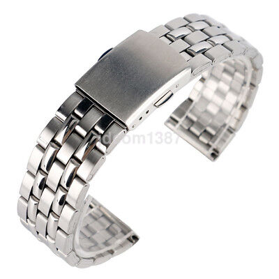 Metal Polished Watch Band - 18/20/22mm Premium Metal Watch Band Polished Stainless Steel Bracelet Solid Link