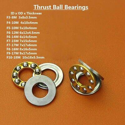 Axial Ball Miniature Plane Thrust Ball Bearings F3-8mf10-18m Bearing Steel