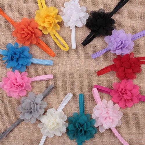 Lovely Baby Kids Girls Infant Toddler Headband Bow Flower Hair Band Headwear New