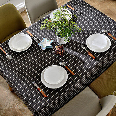 End Table Covers (Tablecloth Cotton Linen Catoon Fabric Square Kitchen Table Round End Table)