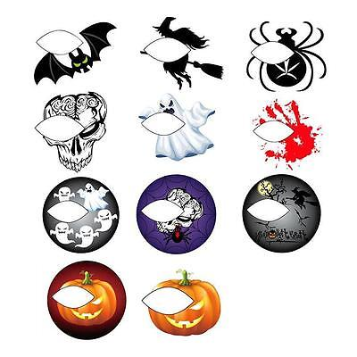 Halloween Eyeshadow Tattoos (Halloween Party Temporary Eye Tattoo Eyeshadow Eyeliner Transfer Sticker)