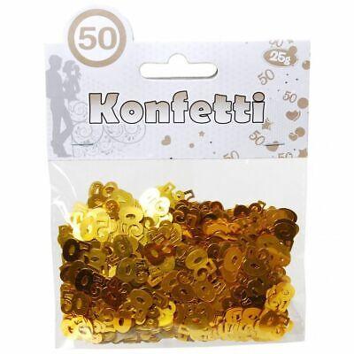 Zahlen Konfetti 50 Gold Tischdeko Dekoration zum 50 Geburtstag Geburtstagszahlen (50. Geburtstag Tischdekoration)