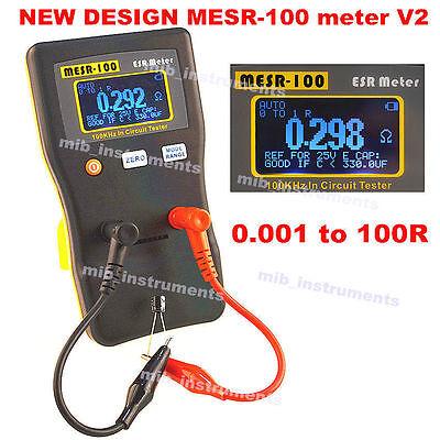 Mesr-100 Autorange Incircuit Test Esr Capacitor Low Ohm Meter 0.001100r Youtube