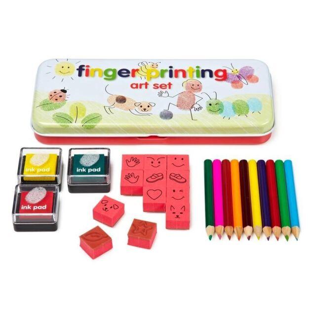 Fingerprint Art Set Whacky Character Creations Printing Kit Fun Art Kid's Gift