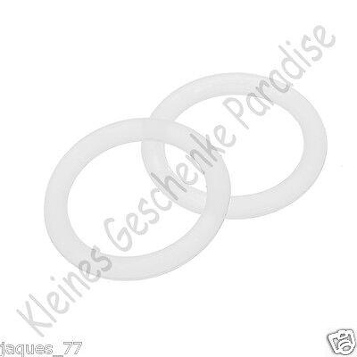 10 x Mini Silikonring Silikonringe Rund / für Schnuller o. Ring Neu