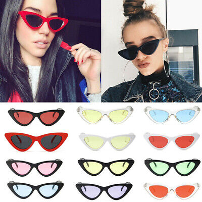 Women Vintage Trendy Cat Eye Sunglasses Fashion Shades Retro Ladies Glasses (Trendy Sunglasses For Ladies)