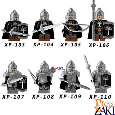 Medieval Single - Single Medieval Knight Lord of the Rings Figures Soldier of Gondor Spear Archer