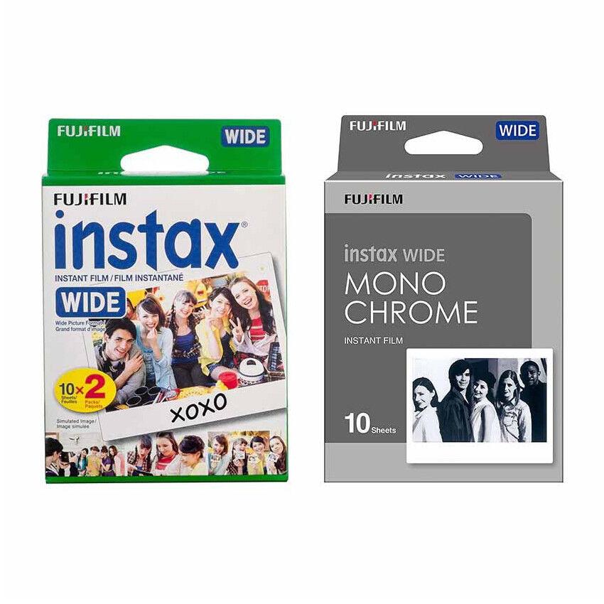 Plain & Monochrome FujiFilm Instax Wide Film Polaroid 30 Ins