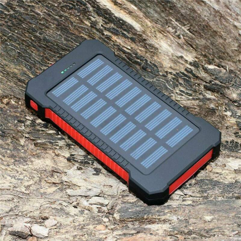 2000000mAh Dual USB Portable Solar Battery Charger Solar Pow