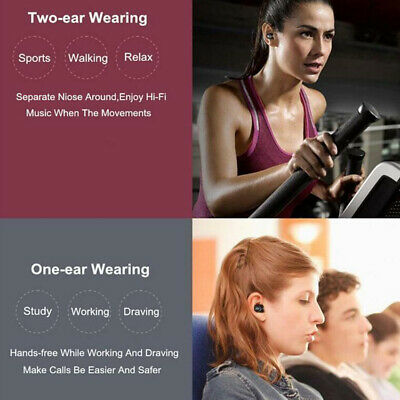 Mini Bluetooth V4.2 TWS Headset Best Noise Cancelling Wireless Sports