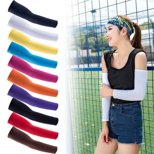 2pcs/set Running Climbing Basketball Arm Sleeves Cover Sport Sun UV Protection