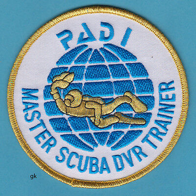 "PADI MASTER SCUBA DIVER TRAINER   4"" ROUND PATCH for sale  Shipping to Nigeria"